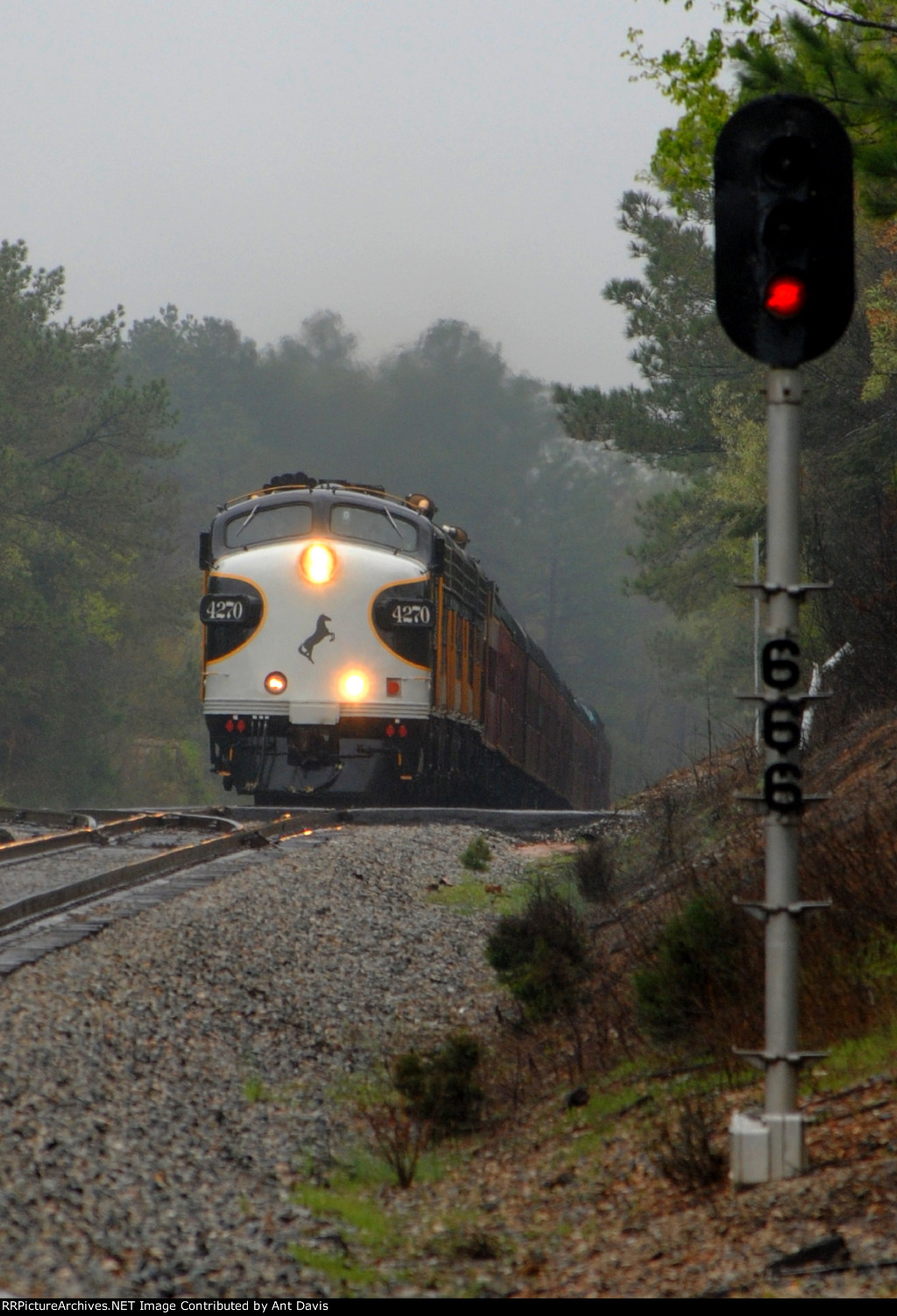 NS 956 Crests the hill at Adger.