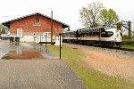 NS 956 passing the Winnsboro Station