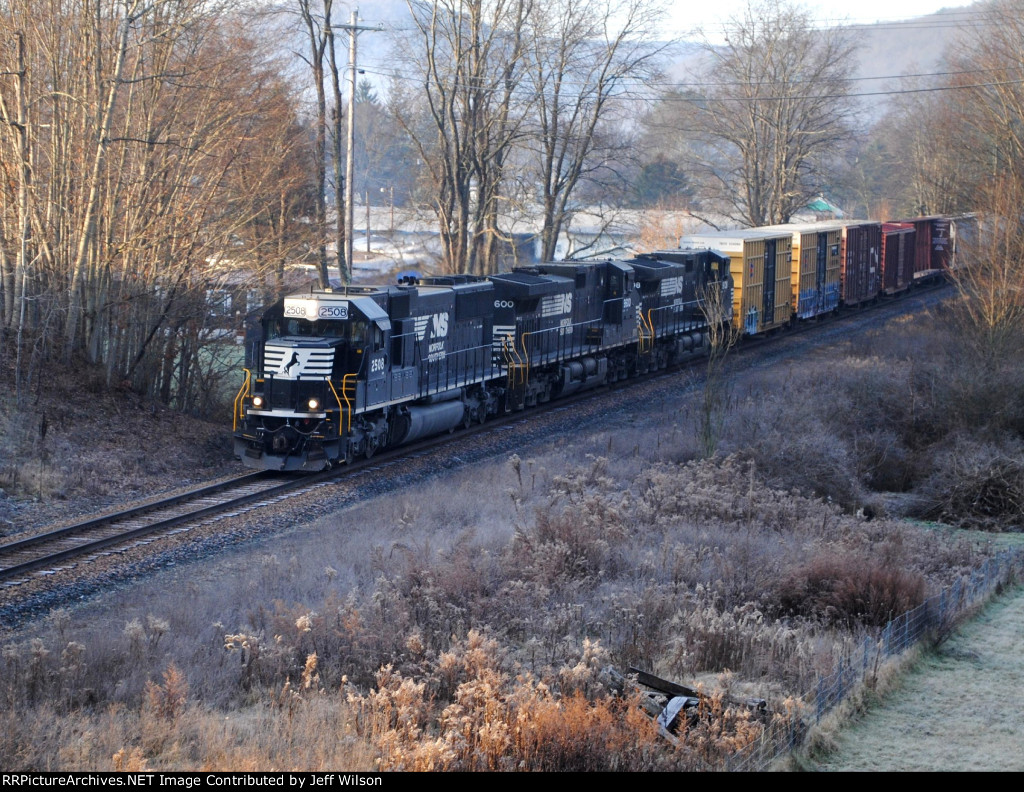 NB NS freight coming out of the shadows