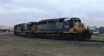 A CSX train makes its way south