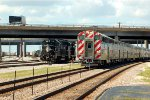 IC GP40R 3138 & a Chicago bound Metra