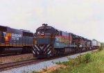 Train meet at SALAK Jct.