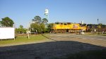 Foreign power in Folkston, Ga. UP 5057 leads Q603 Northbound