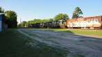 UP 5057, CSX 7535, 8784, and 8666