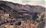 "1910 postcard ""High bridge on the loop, near Georgetown, Colo."""
