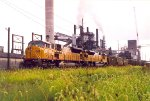 UP 8107 passing a ADM plant