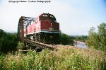"Sequence shot #5---Algoma Central F40PH on ""Agawa Canyon Tour Train"""