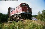 "Sequence shot #6---Algoma Central F40PH on ""Agawa Canyon Tour Train"""
