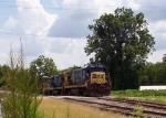 CSX 5879 switching in Quitman, Ga.