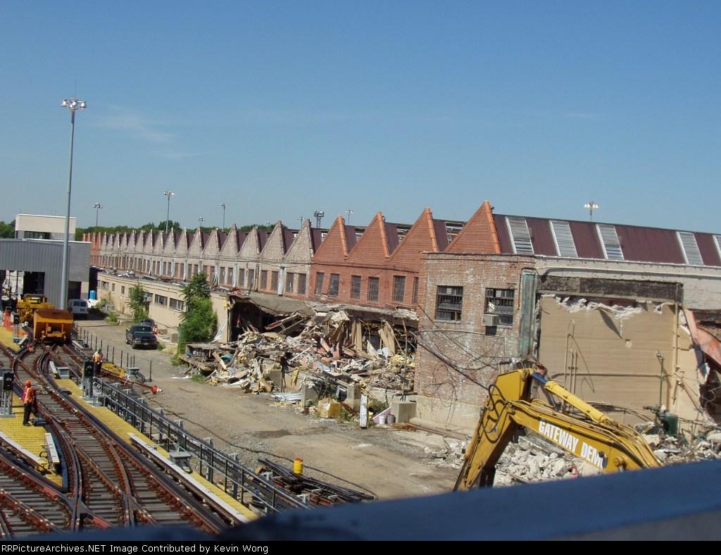 Demolition at old Corona Shop