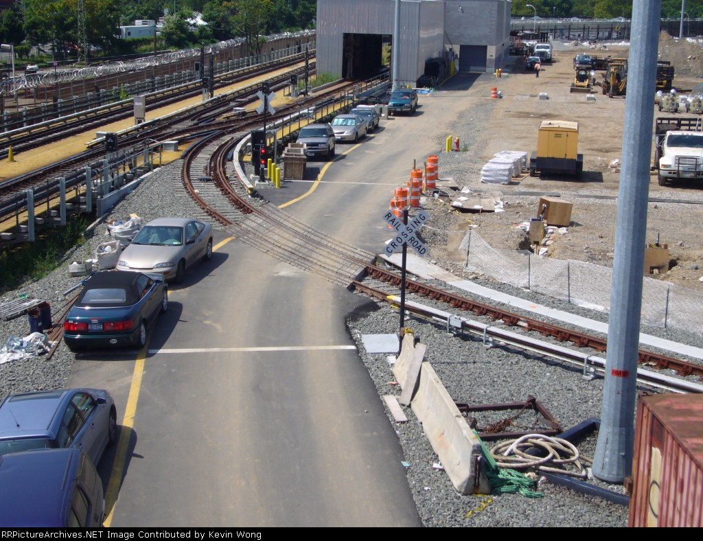 Grade crossing on the new loop track