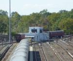 R33 WF train curving around the yard