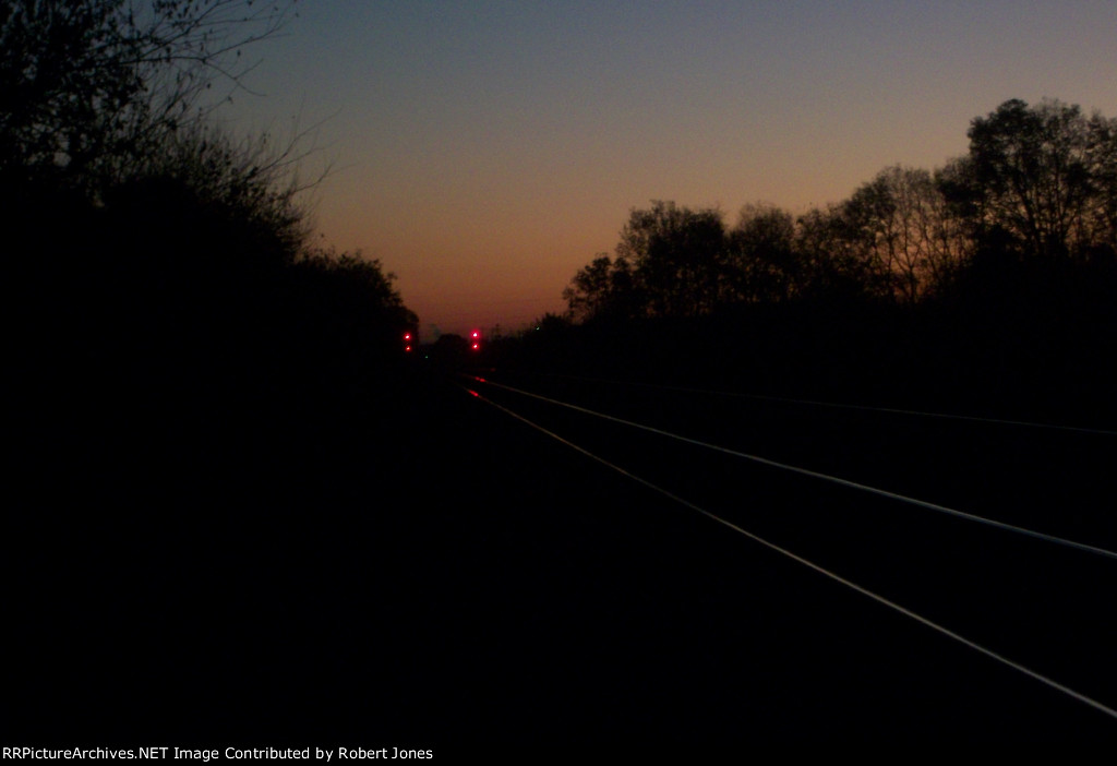 Track Signals at dawn