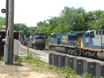 CSX #5321 (ES44DC) and CSX #203 (CW44AC) and NS #8901