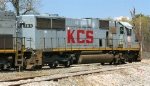 KCS 703, an SD40X, on the dead line at the KCS shops