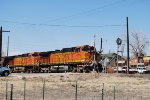BNSF 4075 Point On South Bound Covered Hopper Train