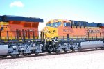 Close up of the rear of BNSF 6672 (Lead unit) and BNSF 6673 as they pass me by on their way westbound pulling the Z CHI-SCO Train.