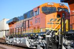 BNSF 6673 has the suns setting rays gleeming off her Very Brand New BNSF Swoosh Logo Paint job.