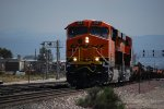 BNSF 6661 Leads BNSF 6662 and a mty Spine Car Train eastbound up the grade towards Cajon Pass, Ca.