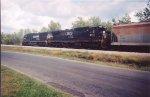 NS 2554 SD70 & D8-40C 8715