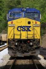 CSX 7359 tied down at Lookout