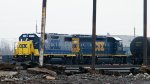 CSX power in Frontier Yard