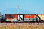 Box Car with graffiti, apparently ex NdeM
