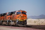 BNSF 6612 Leads a eastbound Z Train into the BNSF Barstow yard for a crewchange.