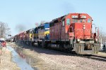 Westbound DME Freight with a sizeable consist of engines
