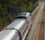 Amtrak Engine 66 on its way.