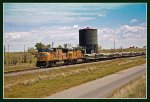 Westbound UP Ballast Train at Bliss, Idaho