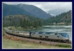 American Orient Express along the Flathead River