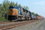 new units push west with intermodal loads behind them