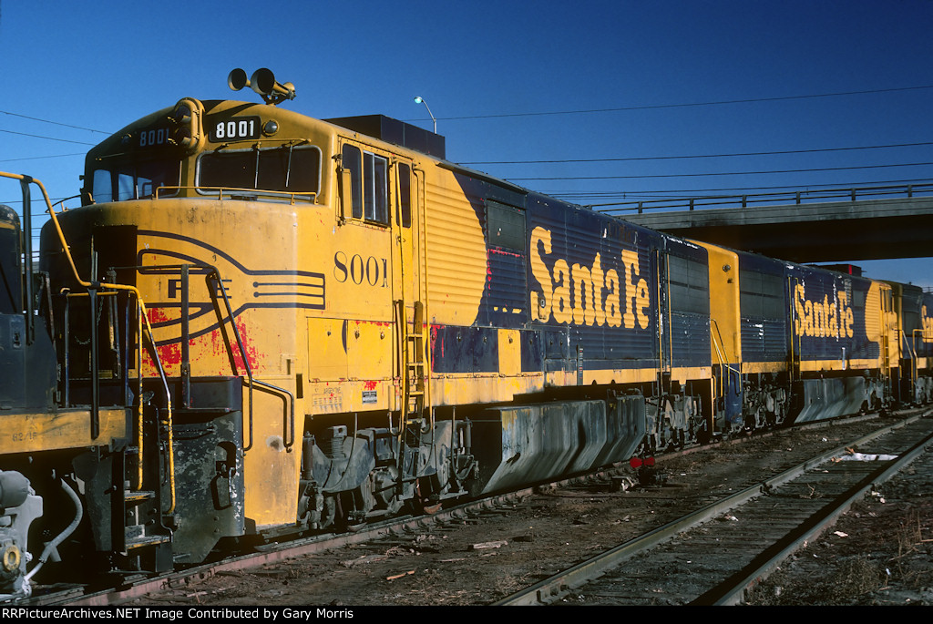 Santa Fe U30CG #8001 at Denver