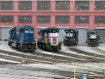 HLCX 5998, MBTA 1117, NS 2709, & NS 5258