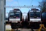 NJT 4639 NJT 4621 Pantographs Down