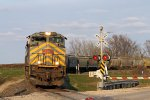 Westbound KCS Grain Idles thru the Hwy 52 Crossing