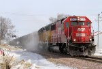 Westbound SOO Rail Train Stirs up some Dust