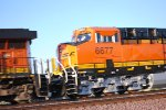 BNSF 6677 Zips by me doing over 60 MPH as she heads into a Beautiful Barstow California Sunrise at 06:59 am.