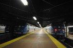 Two Hudson Line Trains