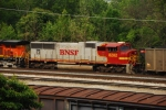 BNSF 8282, an uncommon visitor to these neck of the woods