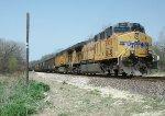 UP 6951 DPU on westbound UP empty coal train