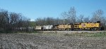 UP 7921 eastbound UP loaded grain train