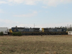 Mar 12, 2006 - CSX engines 161 and 336 lead Q696