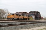 Westbound UP pulling Combines and Other Freight