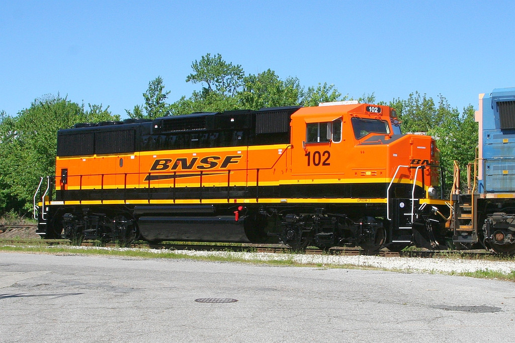 BNSF 102 with a new paint job