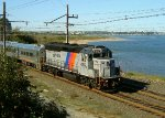 GP40PH-2B along Raritan Bay (NJCL)