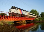 NJT 4119 crosses Branchport Creek Train Bridge on the NJCL
