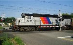 GP40PH-2B crosses John T. O'Leary Blvd. on the NJCL