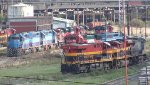 Locomotives on Valley of Mexico Terminal yard